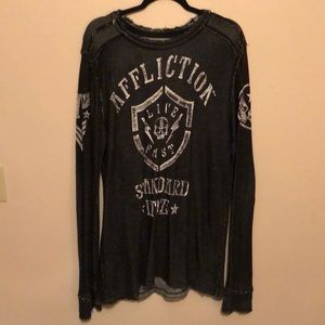 Men's Affliction Long Sleeve T-shirt